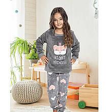 Пижама для девочки детская теплая зимняя турецкая Princess 6-13 лет