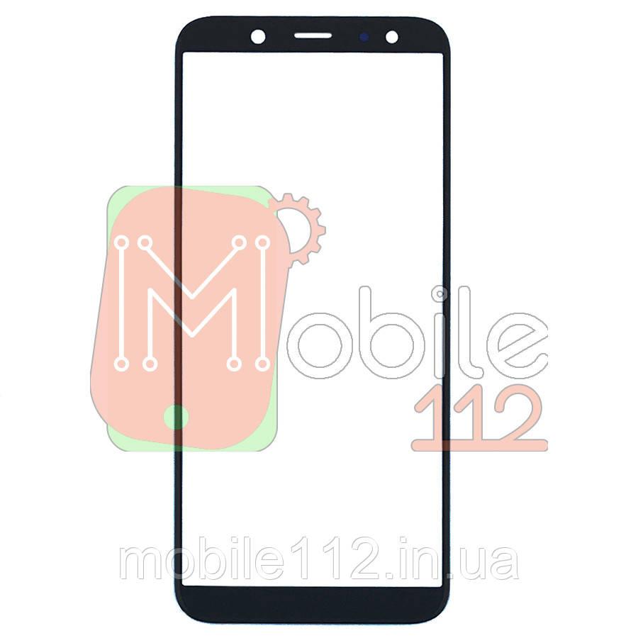 Стекло дисплея Samsung Galaxy A6 2018 A600F черное