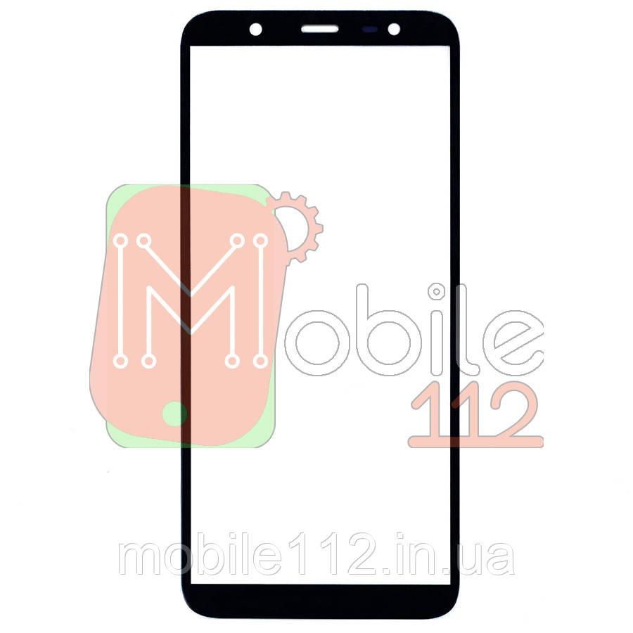Скло дисплея Samsung Galaxy J8 2018 J810F чорне