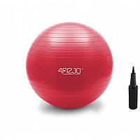 Фитбол с насосом 4FIZJO 55 см Anti-Burst красный для фитнеса, тренировок (4FJ0031)