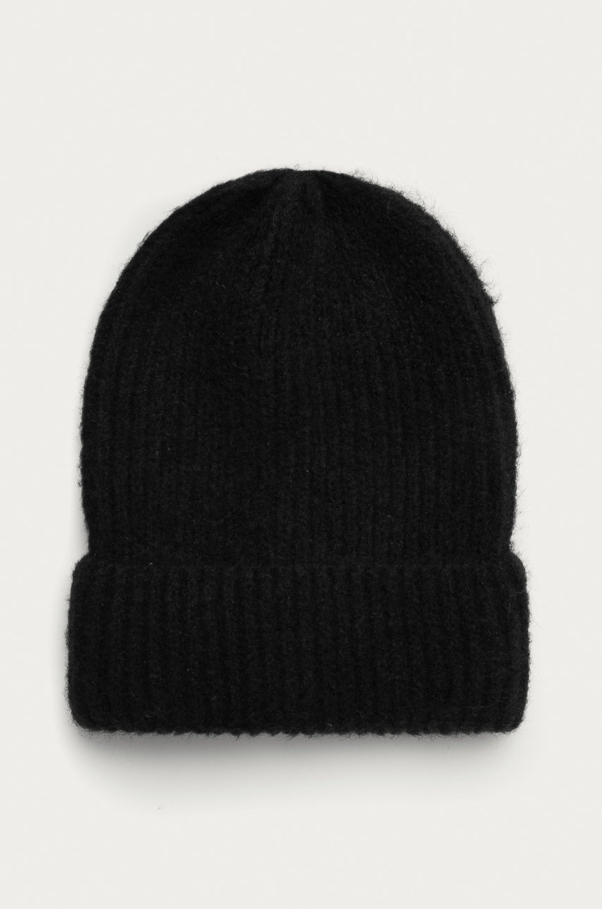 Жіноча шапка з заокругленим краєм чорна Medicine