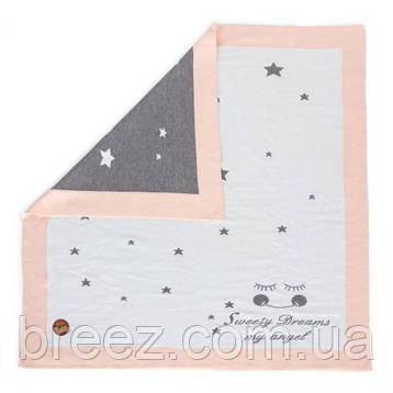 Вязанный плед Ceba Baby Stars 90х90 см  персик, фото 2
