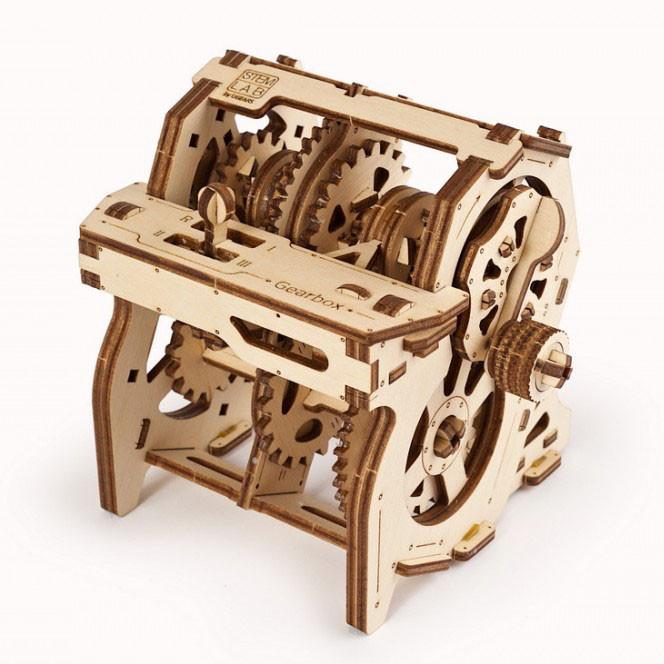 Механический 3D пазл STEM-модель Коробка передач UGEARS