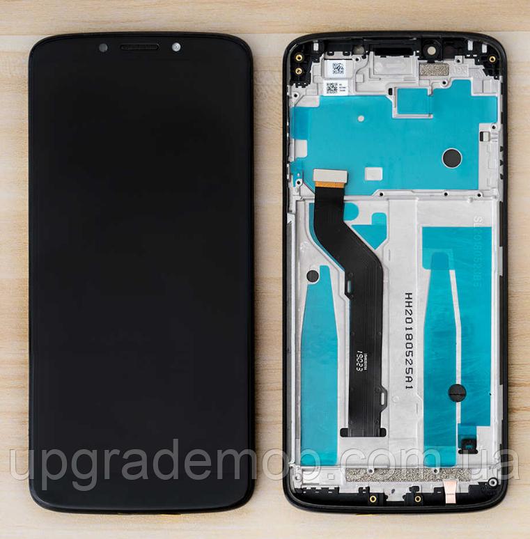 Дисплей Motorola XT1924-1 E5 Plus тачскрин сенсор модуль, черный, в рамке