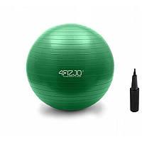 Фитбол с насосом 4FIZJO 75 см Anti-Burst зеленый для фитнеса, тренировок (4FJ0029)
