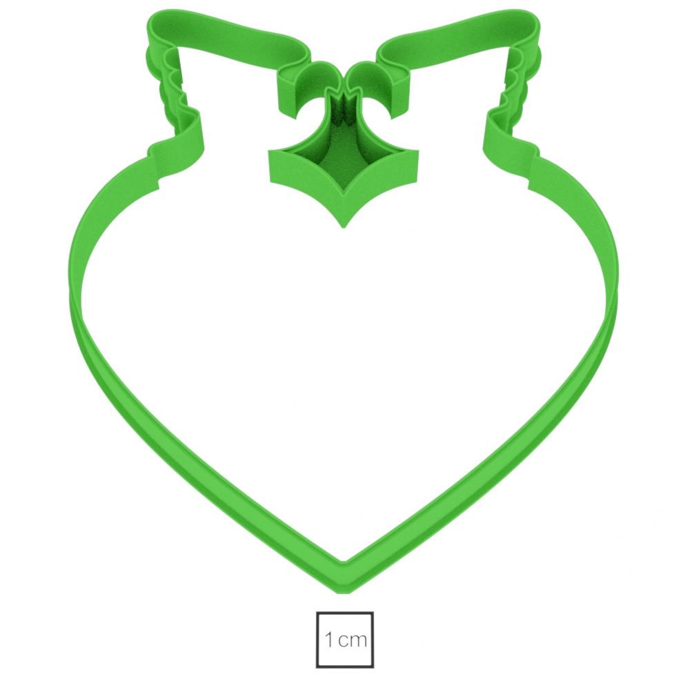 Висічка для пряників у вигляді сердечка з голубами