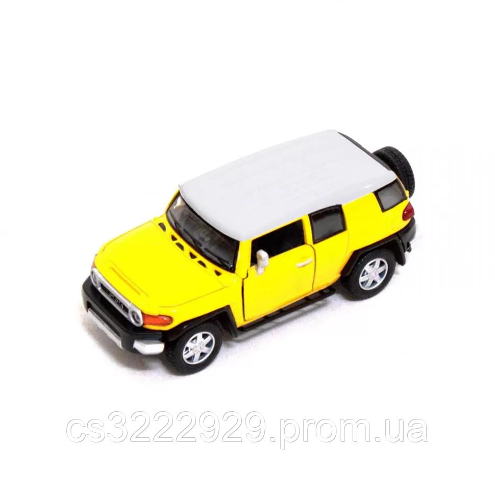 Железная машинка КТ5343 TOYOTA FJ CRUISER (Жёлтый)