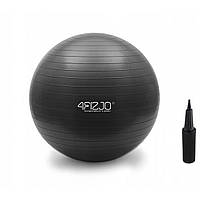 Фитбол с насосом 4FIZJO 85 см Anti-Burst чорный для фитнеса, тренировок (4FJ0028)