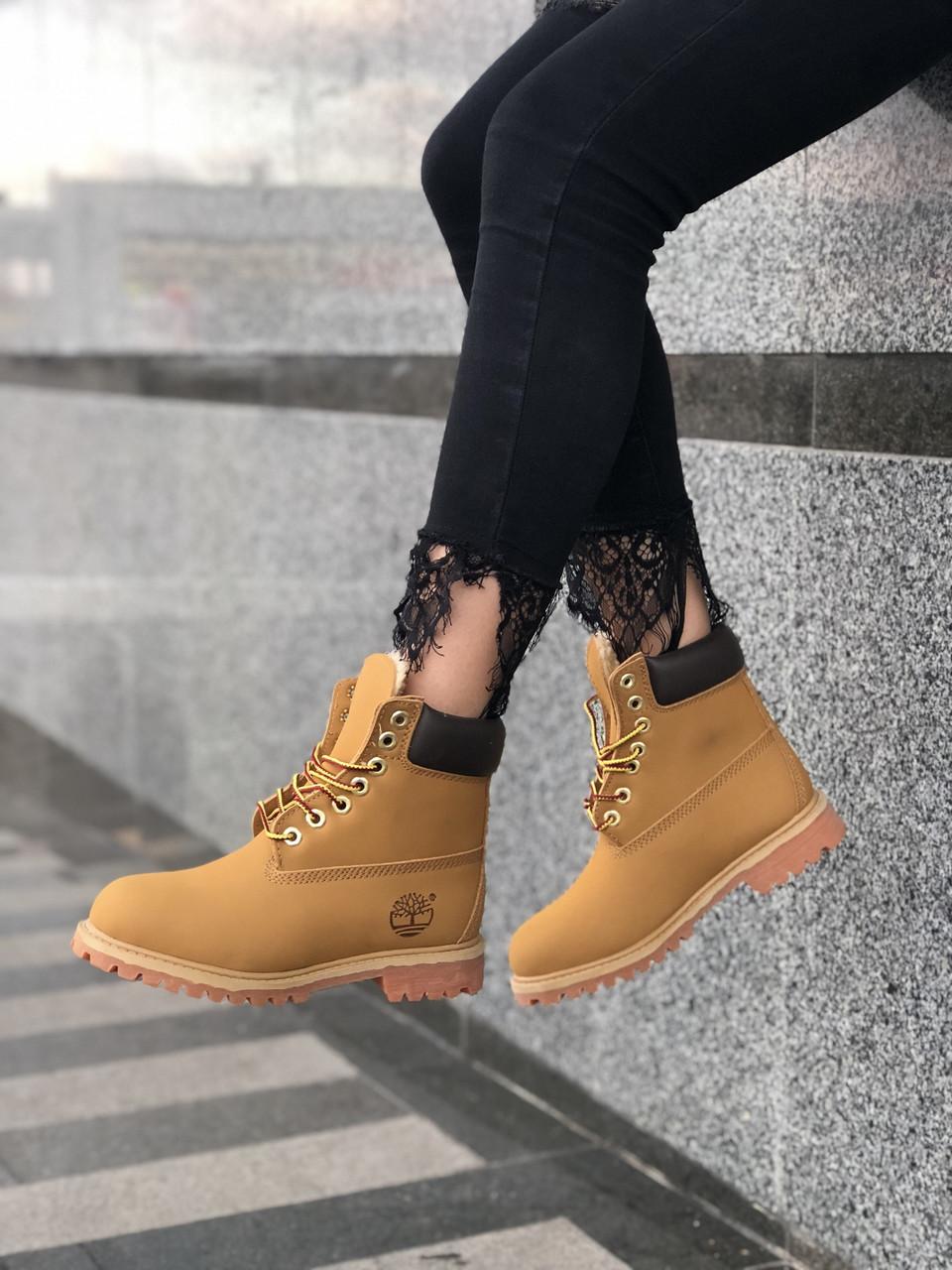 Зимние женские ботинки Timberland НА МЕХУ (Распродажа)