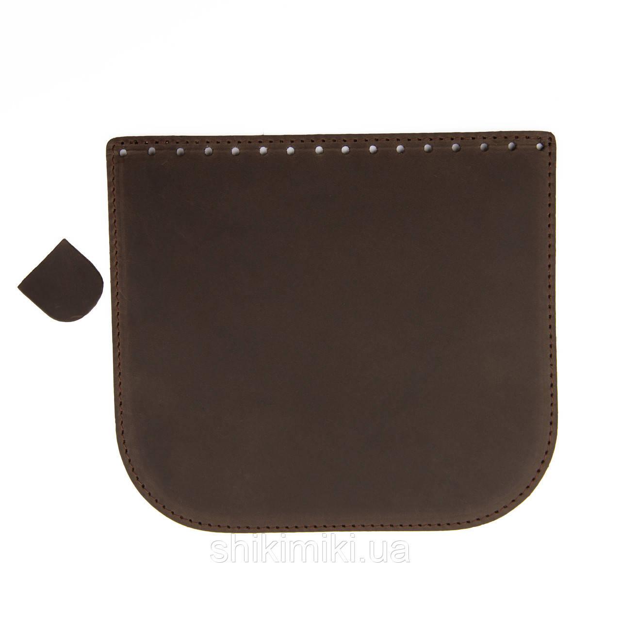 Крышка для сумки из эко-кожи (20*18), цвет коричневый под нубук