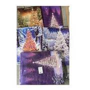"""Пакет подарочный бумажный L """"Christmas tree"""" 31*12*42см 12шт/уп"""