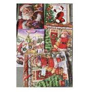 """Пакет подарочный бумажный L """"Santa"""" 31*12*42см 12шт/уп"""