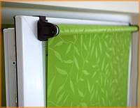 Рулонные шторы ткань НАТУРА 2098 оливковый 40см