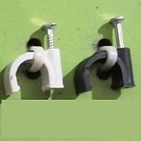 Кліпса Lectris О6мм для круглого кабелю з цвяхом, 100шт