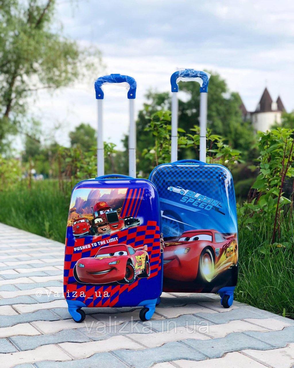 Детский пластиковый чемодан Disney для мальчика тачки