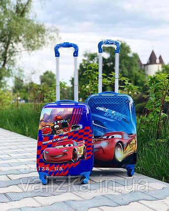 Детский пластиковый чемодан Disney для мальчика тачки, фото 2
