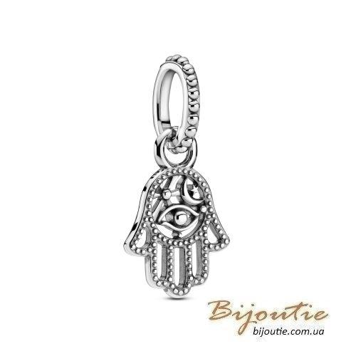 Срібний шарм-підвіска Пандора АМУЛЕТ ХАМСА #799144C00