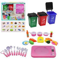 """Игровой набор """"Кухня с контейнерами"""" (розовый)"""