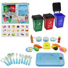 """Игровой набор """"Кухня с контейнерами"""" (голубой)"""