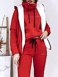 Женский костюм на флисе-двойка: толстовка, штаны и жилет на меху (в расцвветках), фото 3