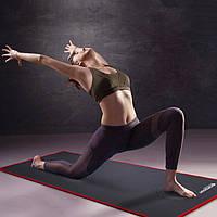 Коврик для йоги и фитнеса Yoga mat 1810*610*10 мм черный каучук VIP
