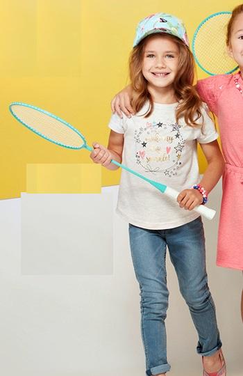 Детская футболка для девочки pepco