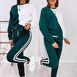 Женский костюм на флисе-двойка: толстовка двухцветная и штаны, фото 4