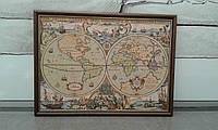 """Гобелен в раме """"Карта мира"""""""