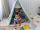Коврик - вигвам с дугами и погремушками для младенцев ( 2 в 1) JL634-1D, фото 4