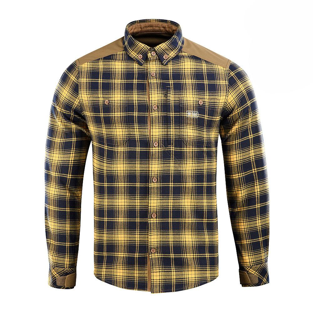 M-TAC РУБАШКА REDNECK SHIRT NAVY BLUE/YELLOW