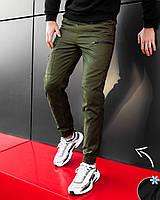 Молодёжные  штаны -карго из стрейч-коттона утеплённые микрофлисом  S M L XL