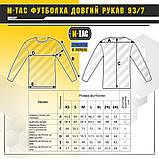 M-TAC ФУТБОЛКА ДЛИННЫЙ РУКАВ 93/7 DARK GREY, фото 5