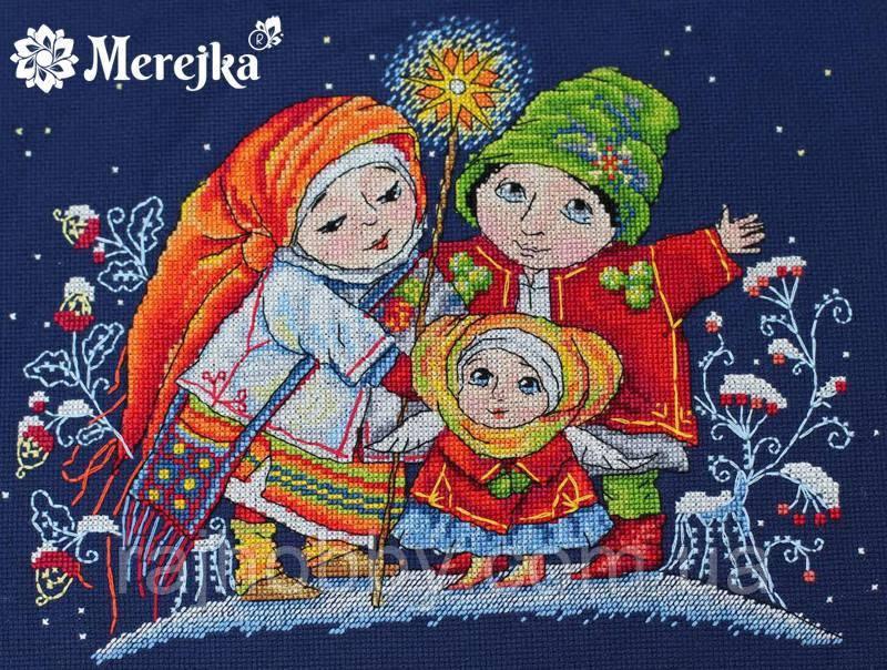 Мережка Різдвяна зірка Набор для вышивки крестом К-26