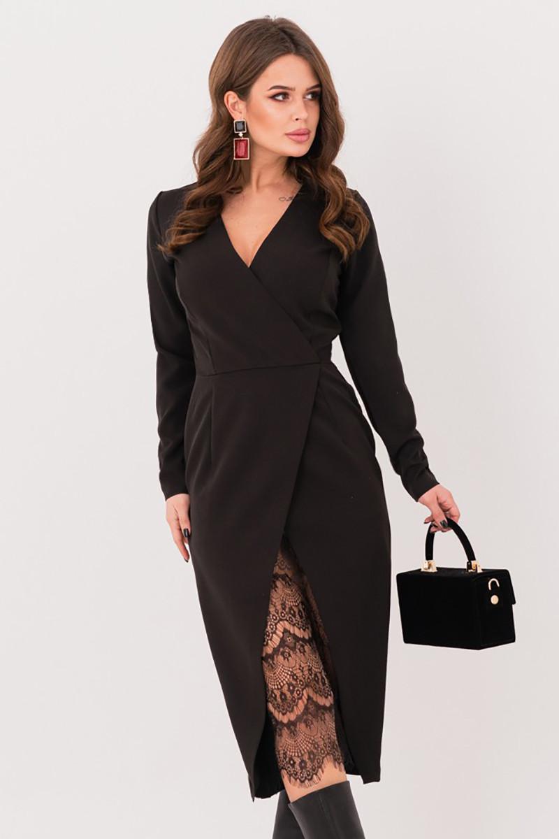 S, M, L   Вечірнє жіноче плаття Karolin, чорний
