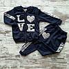 Оптом Дитячий Стильний Костюм Love для Дівчаток 3-7 років Туреччина, фото 2