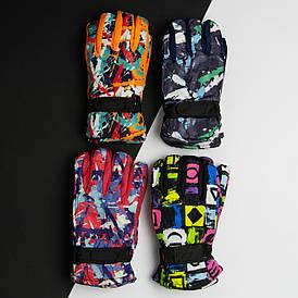 Оптом рукавички дитячі на 8 - 9 - 10 років лижні зимові (арт. 20-12-25)