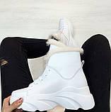 Ботинки с мехом белые, фото 3