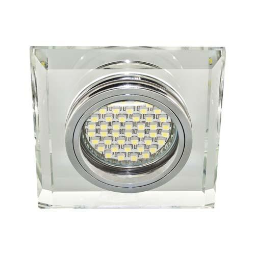 Встроенный светильник Feron 8170-2 с LED подсветкой серебряный