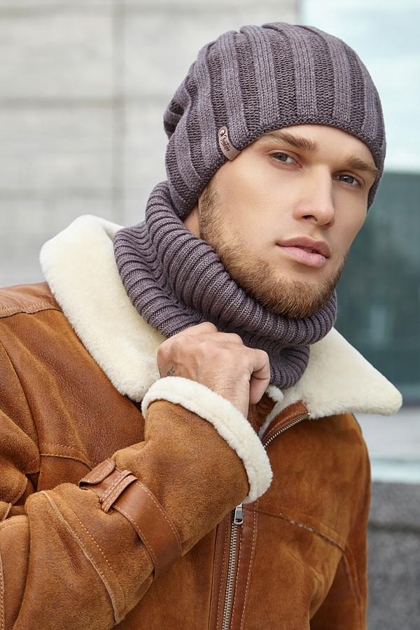 Стильный Мужской комплект «Монблан» шапка и шарф