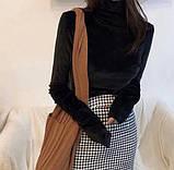 Гольф жіночий велюровий з довгим рукавом і високим горлом.І Р, фото 2