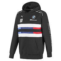 Худи толстовка спортивная мужская Puma BMW M Motorsport Street 595181 01 (черная, хлопок, BMW, логотип пума), фото 1