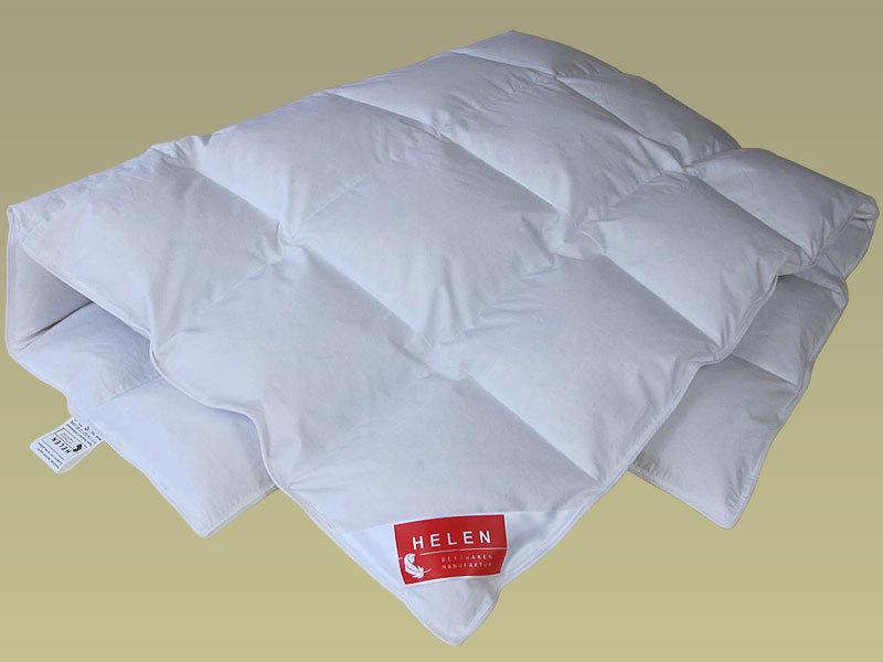 Одеяло пуховое HELEN 200×220 см кассетное ( белый пух 100% ) 800г демисезонное голубое