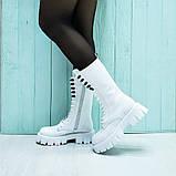 Ботинки кожаные белые, фото 2