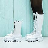Ботинки кожаные белые, фото 3