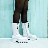 Ботинки кожаные белые, фото 5