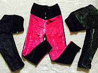 Велюровые брюки-лосины