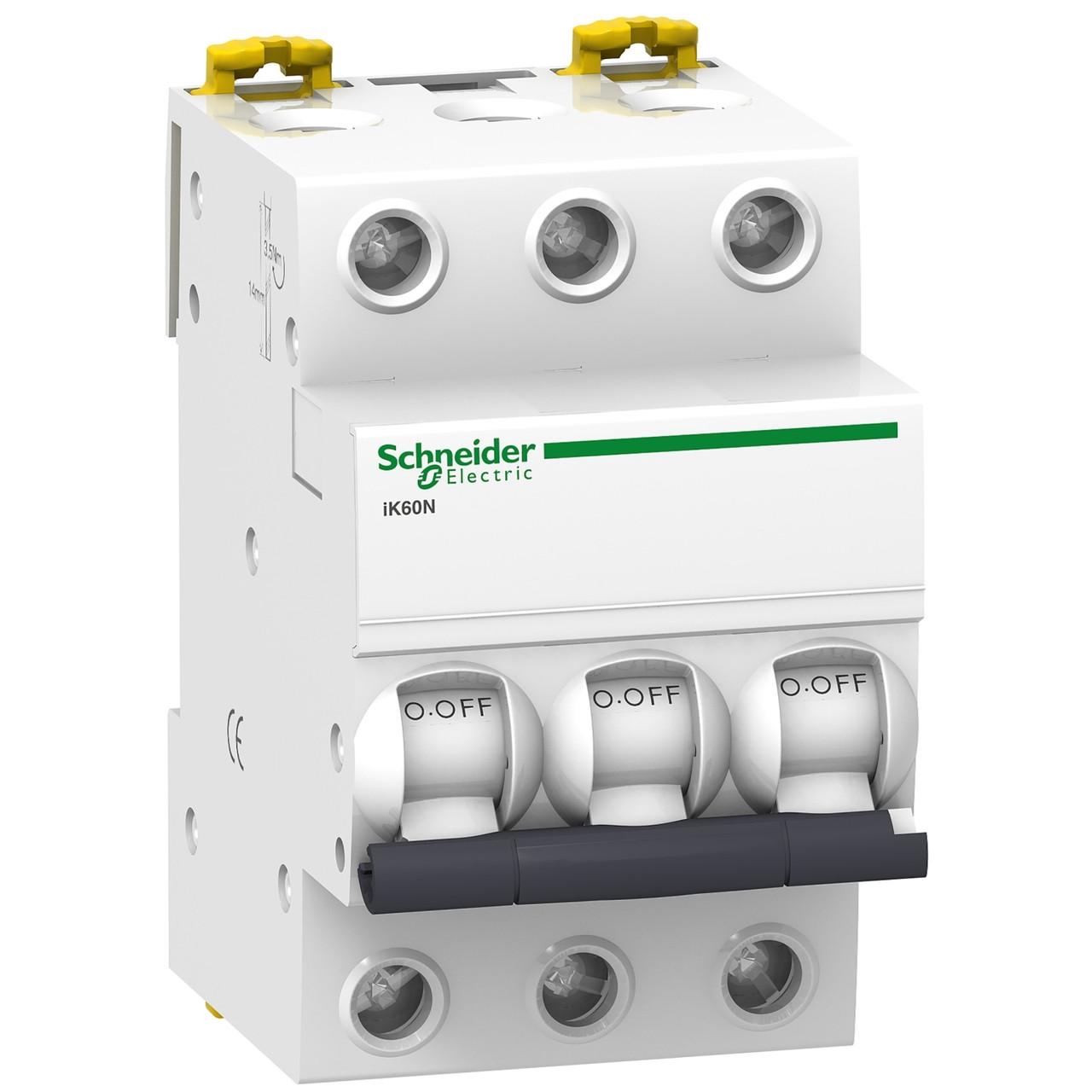 Автоматичний вимикач Schneider Electric Acti 9 iK60 3p 6A C 6kA A9K24306