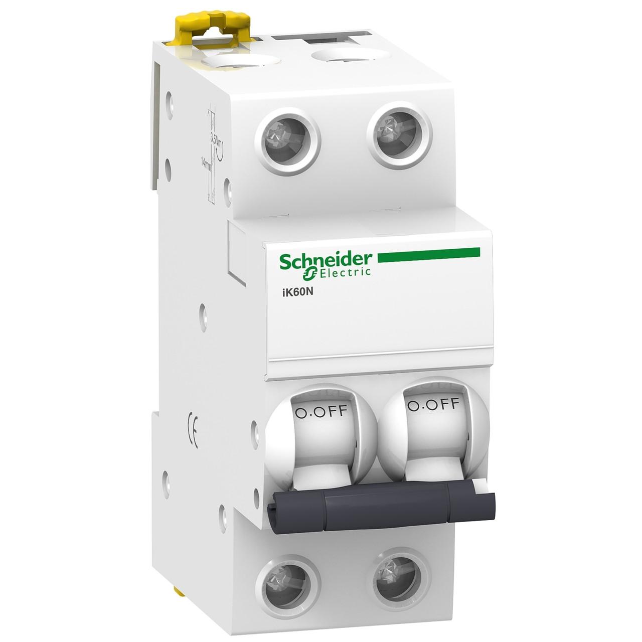 Авт. вимикач Schneider Electric Acti 9 iK60 2p 63A C 6kA A9K24263