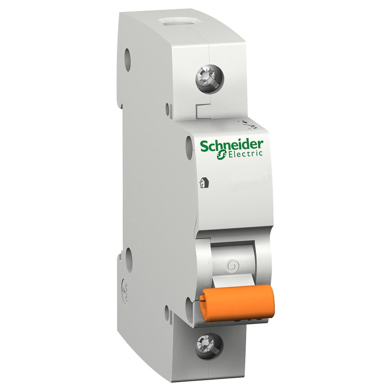 Автоматичний вимикач Schneider Electric Домовий ВА63 1p 20A C 4,5 kA 11204