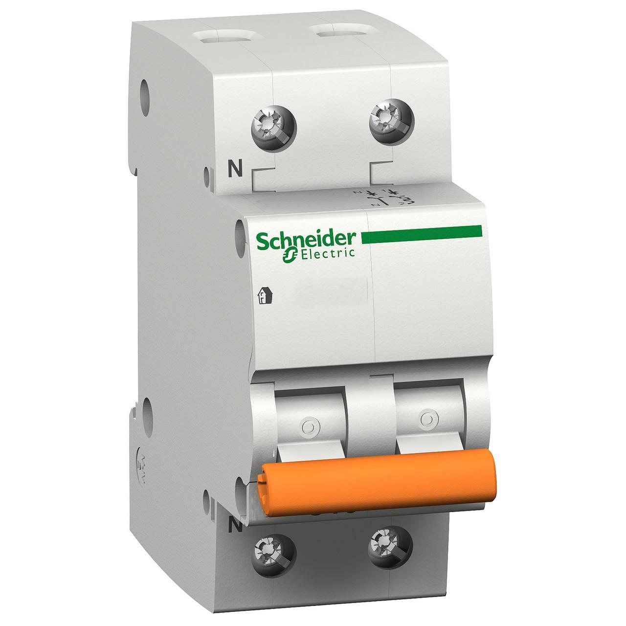 Авт. вимикач Schneider Electric Домовий ВА63 1+Np 25A C 4,5kA 11215